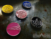 Diecast Metal Power Challenge Coins Set Of Mighty Rangers Zords Coins No Morpher