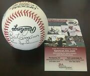 Frank Robinson/gaylord Perry/b Campanaris, Cm 87 Freshly Authenticated By Jsa