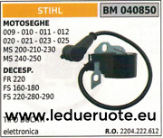 2204222612 Coil Electronic Chainsaw Stihl 009 010 011 012 020 021 023 025