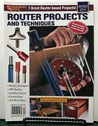 Woodworkers Journal Router Projects And Techniques Winter 2015 Free Shipping Jb