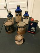Lot Of 7 Vintage Collectible Hudson Bottles And Cans