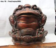 Chinese Fengshui Animal Lucky Three Foot Golden Toad Wealth Treasure Bowl Statue