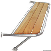Osculati Stainless Steel Stern Platform For Sailing Boats 1310x600x25