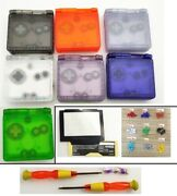 Clear Shell Housing Case For Nintendo Game Boy Advance Sp Gba Sp - 7 Colors