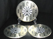 Lot Of 3 Vintage Clock Faces Telep Mantle Grandfather Wall Antique New Old Stock