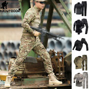 Army Military Menand039s Tactical T-shirt Pants Combat Bdu Uniform Camouflage Casual