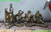 Chinese Myth Bronze Journey To The West Master And Apprentice Learn Scripture