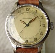 34mm Menand039s Military Jaeger Lecoultre Steel Wwii Period Wristwatch Good Condition