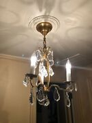 Beautiful Small Baccarat Chandelier - Mint - Crystal - Adorable