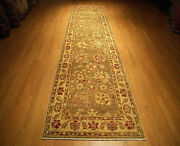 3.3 X 13 High Quality Hand Knotted Veggie Dye Fine Wool Afghan Sultanabad Runner