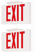 2 Pack Red/green Led Emergency Exit Light Sign - Battery Backup Ul924 Fire