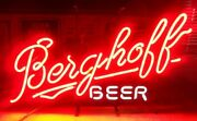 Berghoff Beer Neon Light Sign 17x14 Artwork Poster Real Glass