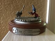 Disney Fantasia Pewter And Wood Statues Rare And In Great Condition