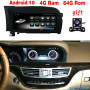 10.25 Android 10 Car Gps Radio Stereo 8core Bt For Benz S Class W221 S300 S350
