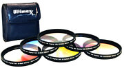 67mm Multicoated Graduated Color 6pcs Filter Kit Set With Pouch For Dslrs Camera