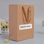 120x Natural Kraft Paper Shopping Bag Mens Clothing Recyclable Loot Carrier Bag