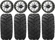 System 3 St-3 Machined 14 Wheels 28 Reptile Tires Yamaha Grizzly Rhino