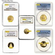 Us Mint Gold 5 Commemorative Coin Ngc/pcgs Ms/pf 70 Random Year
