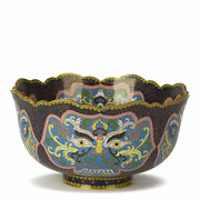 Vintage Chinese Republic Period Cloisonne Bowl Early 20th C