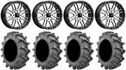 Msa Machined Brute 18 Wheels 33x8 4ply Bkt 171 Tires Can-am Defender