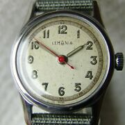 Steel 33mm Mens Wwii Period Lemania Military Wristwatch Good Condition