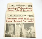Man On The Moon Newspaper- The Denver Post