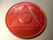 26 Aa Aluminum 8 Month Recovery Sobriety Coin Token Medallion Lot Roll Of 26