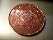 26 Aa Aluminum 7 Month Recovery Sobriety Coin Token Medallion Lot Roll Of 26