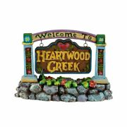 Enesco Jim Shore Village Welcome To Heartwood Creek Sign 4021339