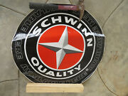 Schwinn Decal Banner Sign 2and039 Vintage Race Racing Display Freestyle Cruiser