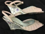 Women's Sz 9.5 Us Dressy Wedge Shoes By Morenation W/ Expensive Insoles