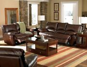 Coaster Fine Furniture Clifford Leather Motion Reclining Sofa And Loveseat