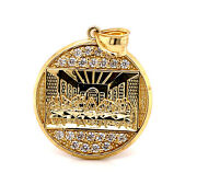 10k Solid Yellow Gold Last Supper Jesus Religious Pendant 5.5 Gr 1.18 Large