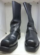 Harley-davidson Mens Size 11 Booker Black Leather Motorcycle Riding Boots D95194