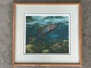 Mark Susinno Trout Fishing Print Signed And Numbered 24 High X 26 Wide -