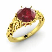 1.01 Carat Natural Ruby Vintage Inspire Engagement Ring In 14k Yellow Gold