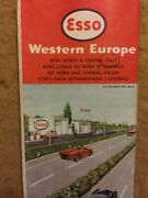 Vintage Western Europe W/italy Netherlands Great Britain Map By Esso Oil