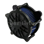 Matte Grill Black Air Filter Blue Element Air Cleaner Fit For Softail Touring