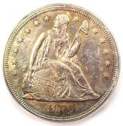 1870 Seated Liberty Silver Dollar 1 - Certified Icg Ms64 Unc - 7810 Value