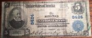 National Bank Of Reno Nevada Series Of 1902 5 Large Size Note