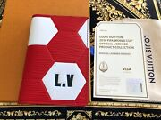 Louis Vuitton Fifa 2018 World Cup Pocket Organizer Red White Leather Brand New