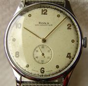 38.5mm Menand039s Wwii Period Doxa Collection Wristwatch Good Condition