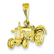 14k Yellow Gold Tractor Charm Pendant Msrp 504