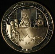 Medallic History Of Canada The Sovereign Council Silver Medal - Free Shipping Us