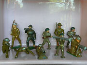 Vintage Lot Of 10 U.s. Ww I And Wwii Lead Army Soldiers - Figures - Eb80