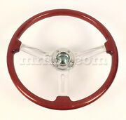 Alfa Romeo Spider Hellebore Wooden Steering Wheel 380 Mm New