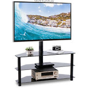 Corner Tv Stand With Swivel Mount For 37 40 43 47 50 65 70 Inch Lcd Led Tvs