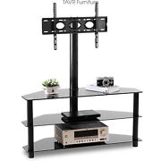 Swivel Floor Tv Stand For Most 37-70 Inch Led Lcd Plasma Flat/curved Screen Tv