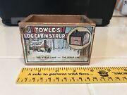 Vintage Towle's Log Cabin Syrup Advertising Wood Box