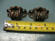 Antique Original Usa Window Shade Cord Pulleys 2 W/ Side Brakes Excellent